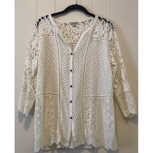 Luck Brand lace shirt